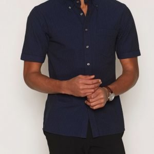 Oscar Jacobson Higgs 3 slim shirt wash Kauluspaita Dark Blue