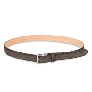 Oscar Jacobson OJ Suede Belt Dark Brown