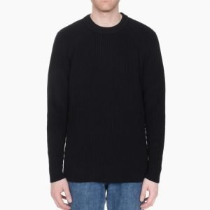 Our Legacy Roundneck Raglan Vent Black Cotton
