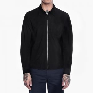 Our Legacy Suede Zip Shirt