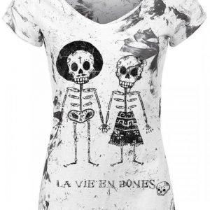 Outer Vision Skeleton Lovers Naisten T-paita