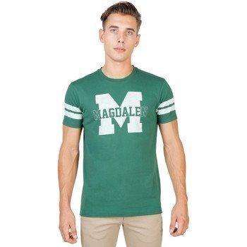 Oxford University MAGDALEN-STRIPED-MM lyhythihainen t-paita
