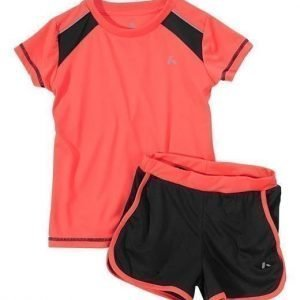 PLAYTECH by Name it Paita+shortsit Piv Neonkoralli Musta