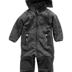 PLAYTECH by Name it Soft shell-haalarit Beta mini unisex Musta Melerattu