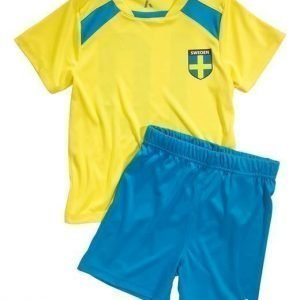 PLAYTECH by Name it T-paita + shortsit Pootball Keltainen Sininen