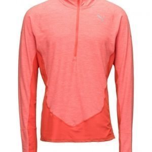 PUMA SPORT L/S 1/2zip Hooded Top treenipaita