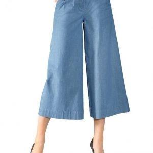 Paola Culottes Housut Blue Bleached