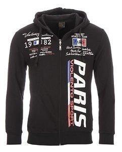 Paris Sport Hoodie Black