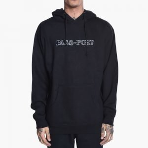 Pass-Port Outline Embroidery Hoodie