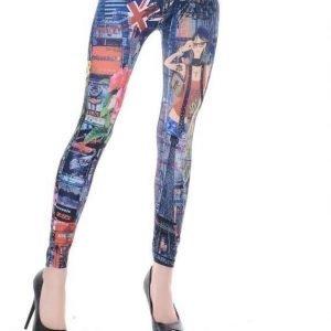 Pattern jeans print leggins