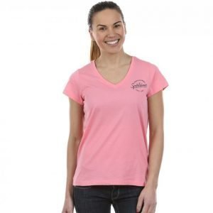 Peak Performance Shell V-Neck T-paita Roosa