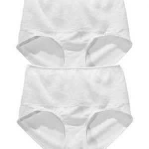 Petite Secrets Maxialushousut 2-Pakkaus Valkoinen