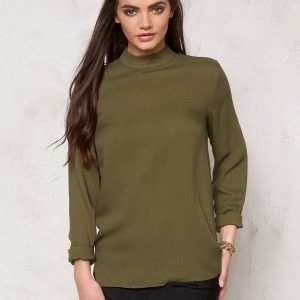 Pieces Batina Deep Back Top Dark Olive