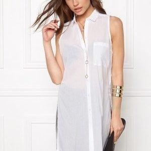 Pieces Bea Slit Shirt Bright White