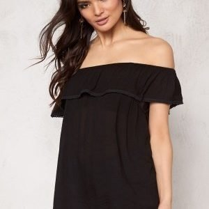 Pieces Beth Off Shoulder Top Black