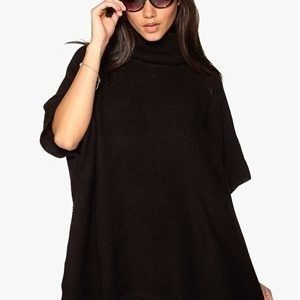 Pieces Billi Poncho Black