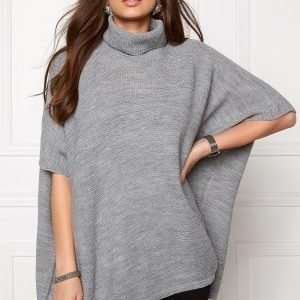 Pieces Billi Poncho Noos Light Grey Melange
