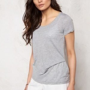 Pieces Brigita Tee Light Grey Melange