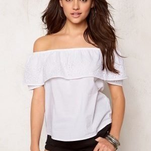 Pieces Brooke Off Shoulder Top Bright White