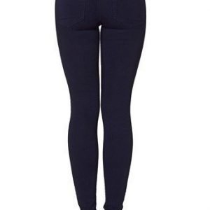 Pieces Farkkuleggingsit Just Jute Highwaist Tummansininen