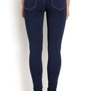 Pieces Farkkuleggingsit Just jute highwaist Klara Tummansininen