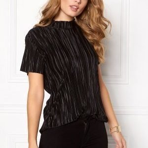 Pieces Halle T-Neck ss Blouse Black