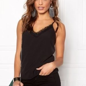 Pieces Hilary Slip Top Black