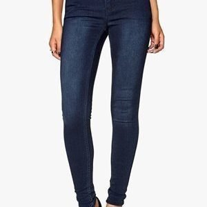 Pieces Just Jute Washed Legging Dark Blue Denim