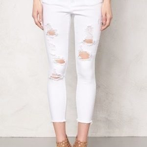 Pieces Just Tilda R.M.W cropped Bright White