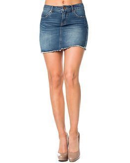 Pieces Just Tracy Short Skirt Medium Blue Denim