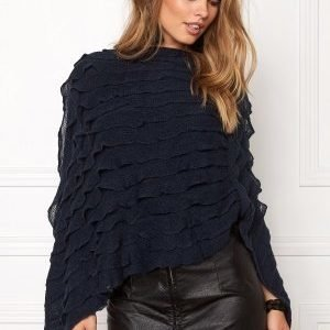 Pieces Kia Betty Poncho Navy Blazer