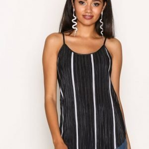 Pieces Pchalle Fiola Sl Striped Top D2d Pb Toppi Musta