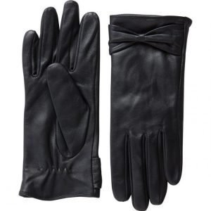 Pieces Pckasle Bow Leather Naisten Nahkakäsineet