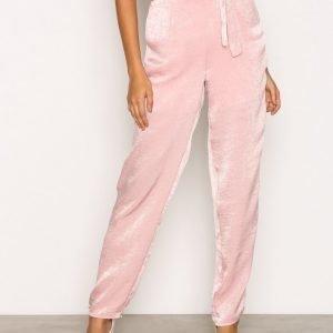 Pieces Pclene Hw Pants D2d Housut Vaaleanpunainen