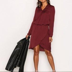 Pieces Pcmaria Ls Dress D2d Mekko Tummanpunainen