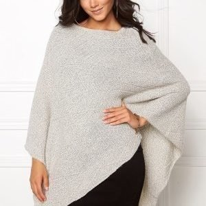Pieces Persilla Wool Poncho Moonbeam