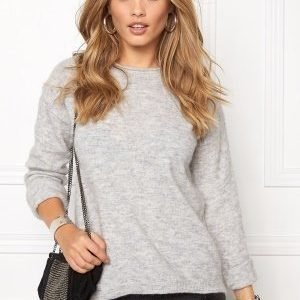 Pieces Renee Is Wool Knit Light Grey Melange