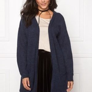 Pieces Renee Wool Knit Cardigan Navy Blazer