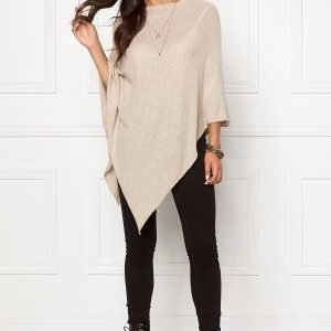 Pieces Rikki Wool Poncho Noos Feather Gray