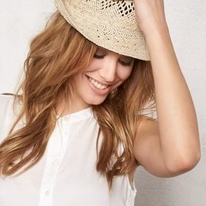 Pieces Tasmin small straw hat Nature