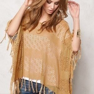 Pieces Tori Poncho Tan