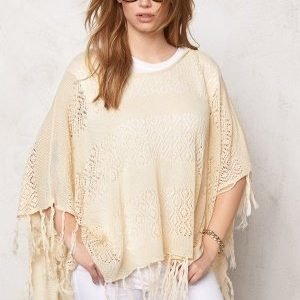 Pieces Tori Poncho Whitecap Gray