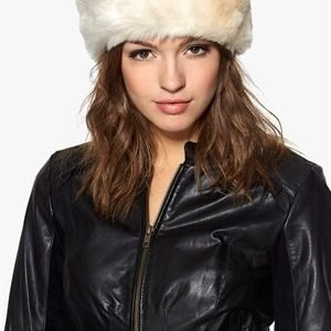 Pieces Villac fake fur headband Whitecap gray
