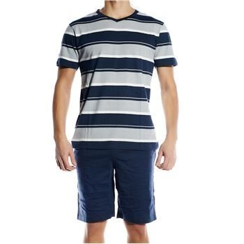 Pierre Hector Jersey Short Pyjamas Set Navy