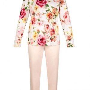 Pill Pyjama Valkoinen / Aprikoosi / Pinkki
