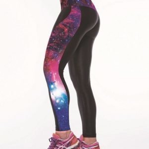Pink Galaxy Gym Sport Yoga Fitness Leggings Pants Medium