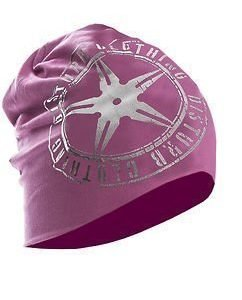 Pink / Silver Logo Beanie