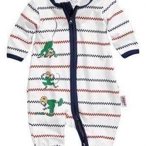 Pippi Långstrump Pyjama Valkoinen Sininen Punainen