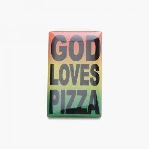 Pizza Skateboards God Loves Pizza Pin
