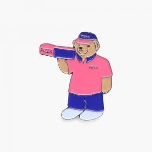 Pizza Skateboards Pizza Bear Pin